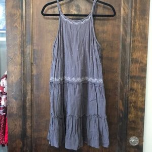 Gray summer minidress